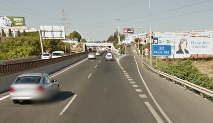 Avfarten mot Psykolog-mottagningen i Fuengirola